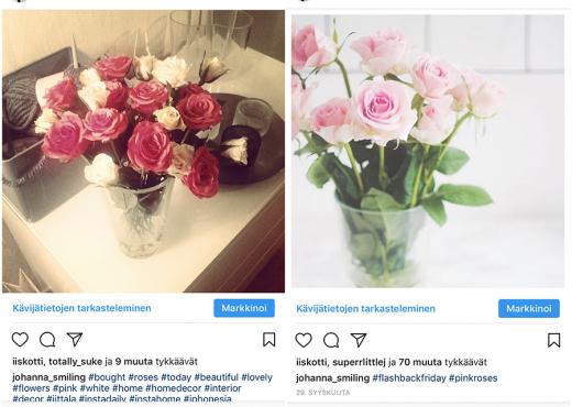 Instagram silloin vs. nyt