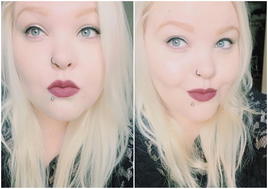 NYX Soft Matte Lip Cream huulilla