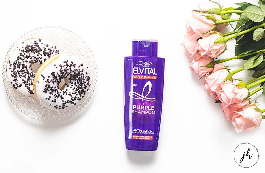 Bette Box huhtikuu L'Oréal Paris Elviltal Color Vive Purple Shampoo