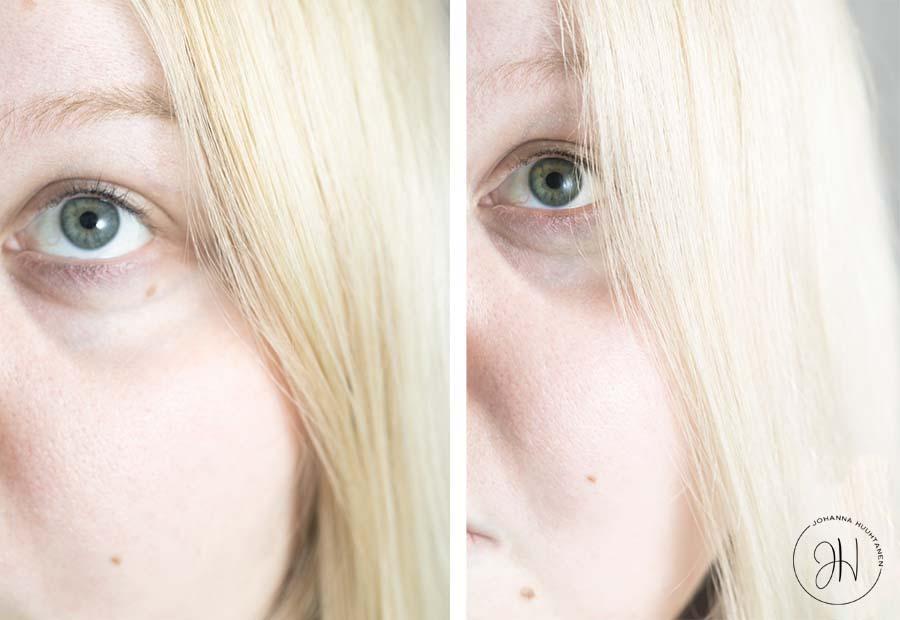 Sim Sensitive DS Blond ennen & jalkeen