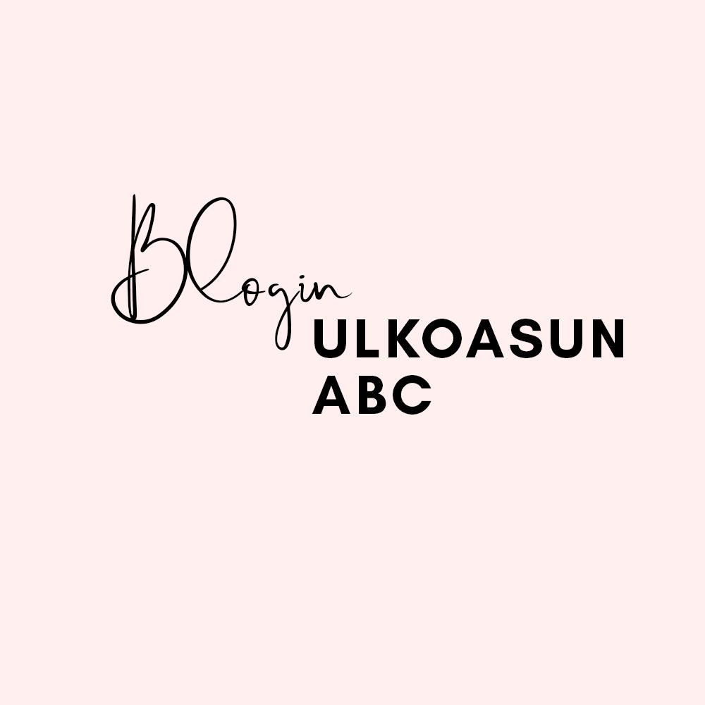 Blogin ulkoasun ABC