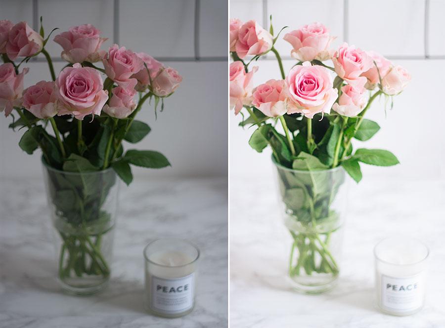 Näin muokkaan kuvani - ruusut