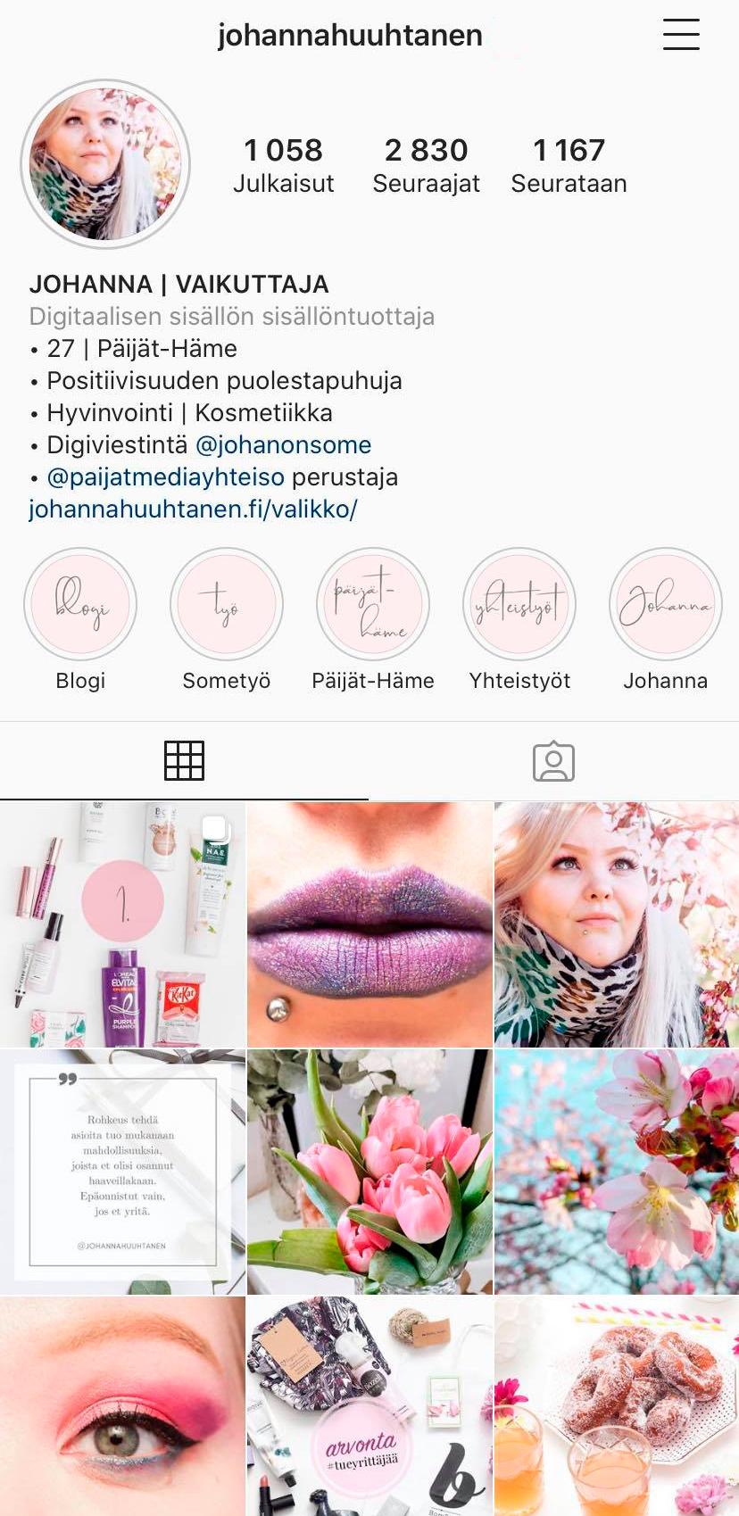 Johanna Huuhtanen Instagram